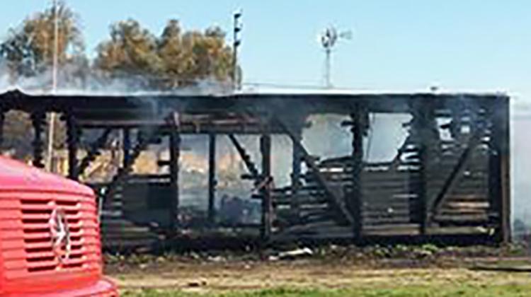 Se Incendió el vagón del ferrocarril
