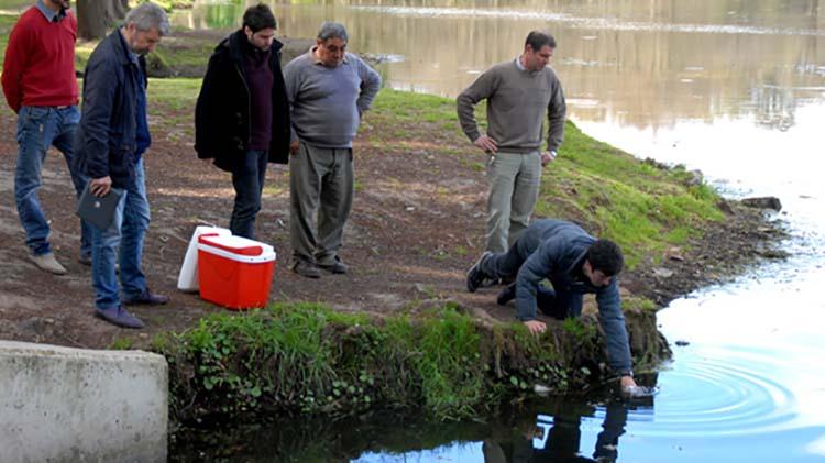 Evalúan el espejo de agua del Parque