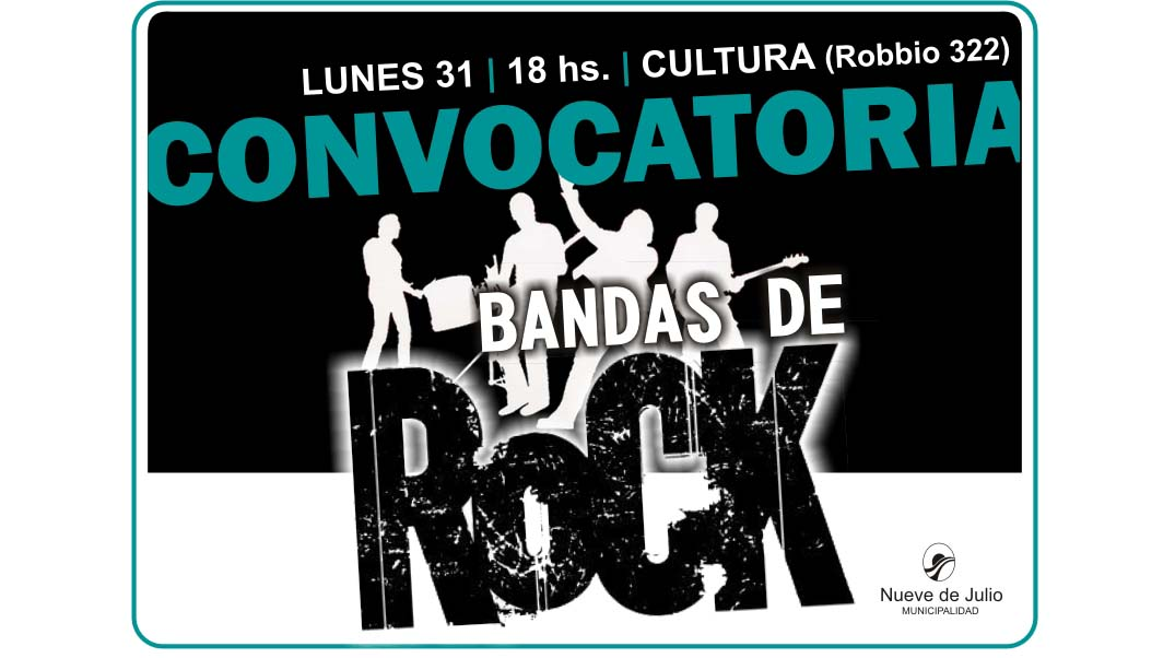 Convocatoria a bandas de rock
