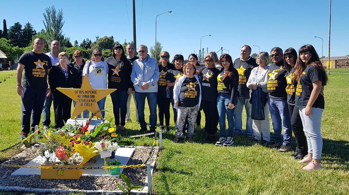 Estrellas Amarillas recordó victimas Viales