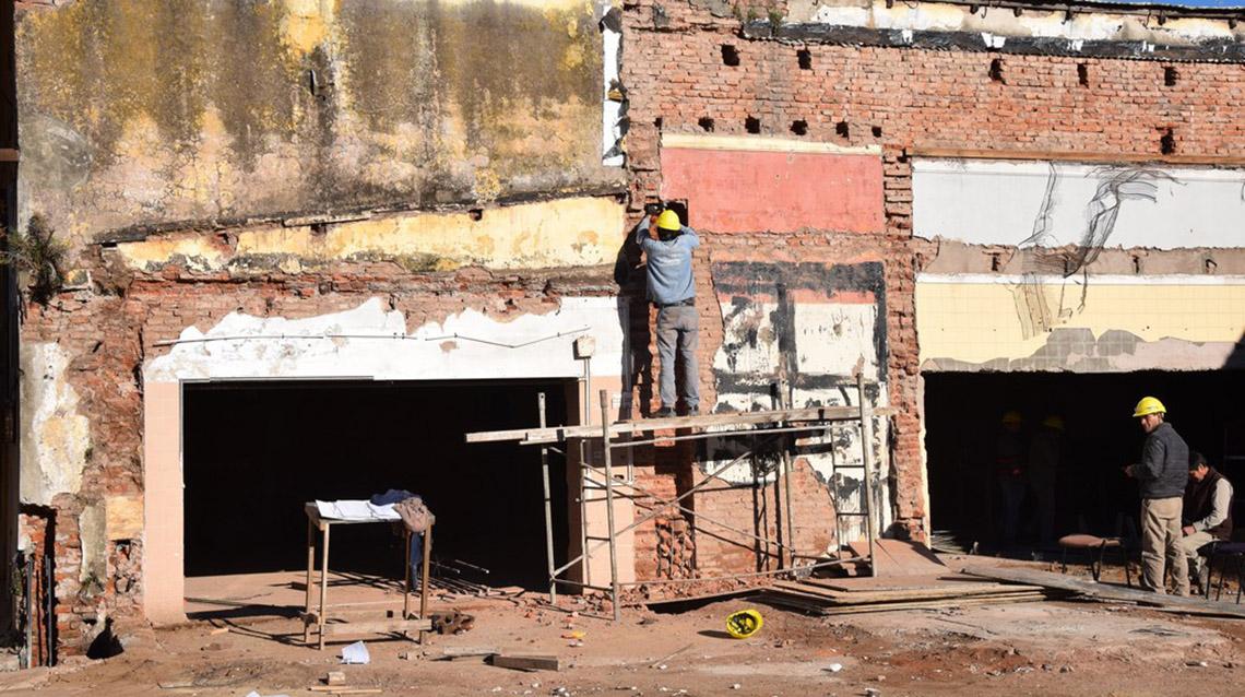Marcado avance de trabajos en ex San Cayetano