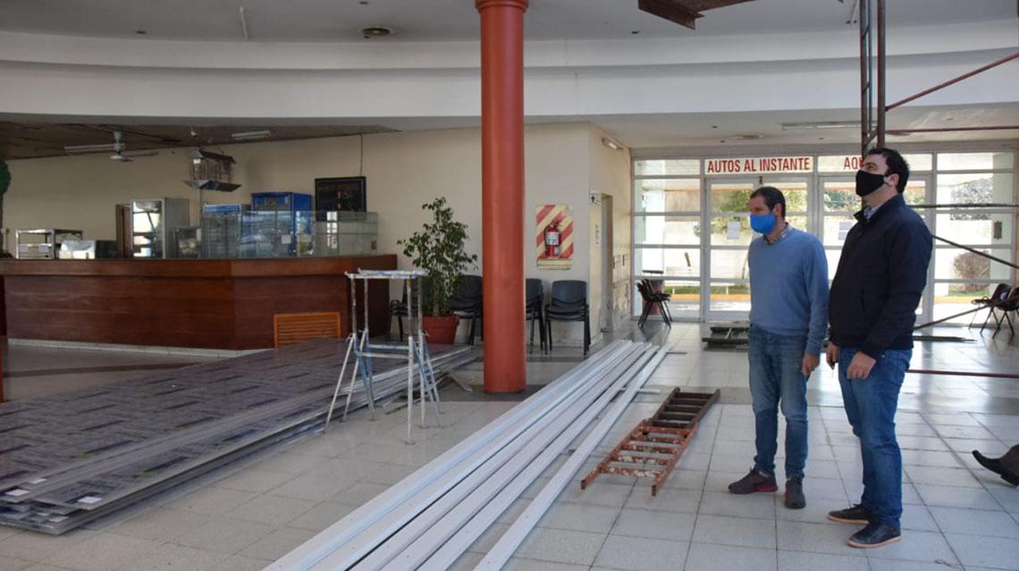 Obras en terminal de ómnibus